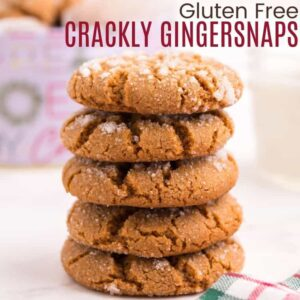 Five stacked gingersnaps