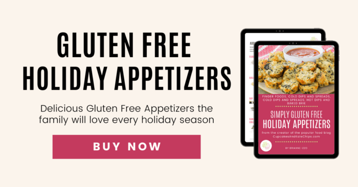Tablet displaying cover of Simply Gluten Free Holiday Appetizers eBook