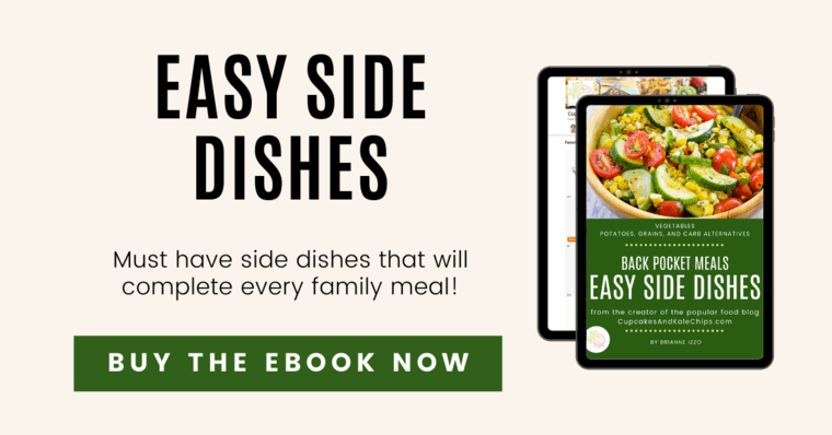 Tablet displaying cover of Easy Side Dishes eBook
