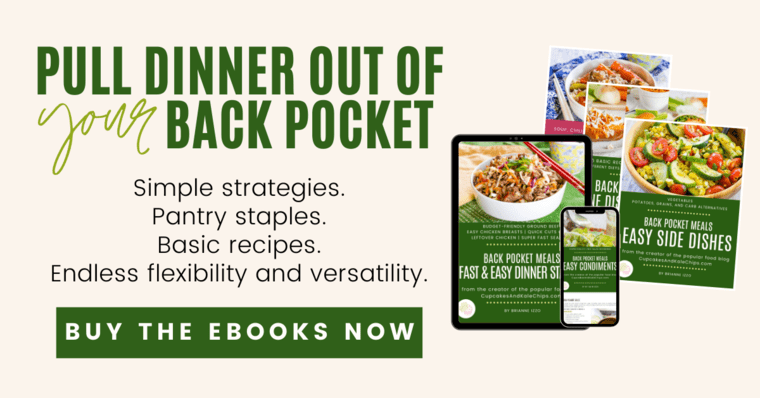 Back Pocket Meals eBook Covers displayed on devices
