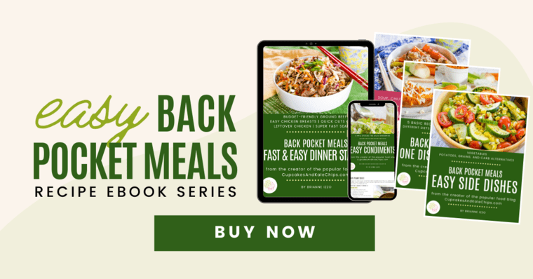 Easy Back Pocket Meals eBook series displayed on screens of devices