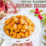 plate of butternut squash cubes