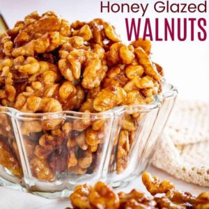 bowl of glazed nuts