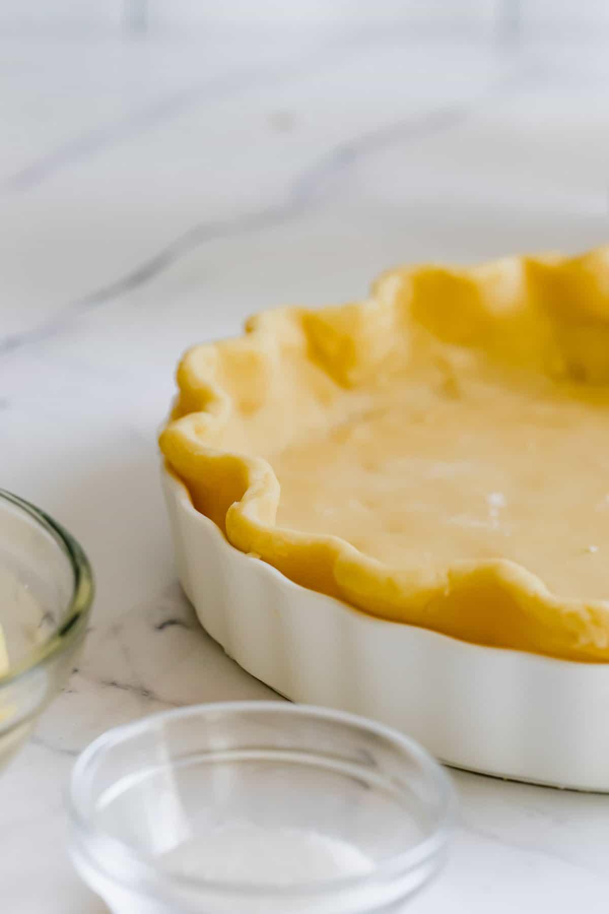 A Close-Up Shot of a Buttery Pie Crust Made from Scratch