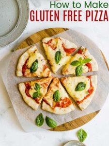 Gluten Free Pizza cut into slices