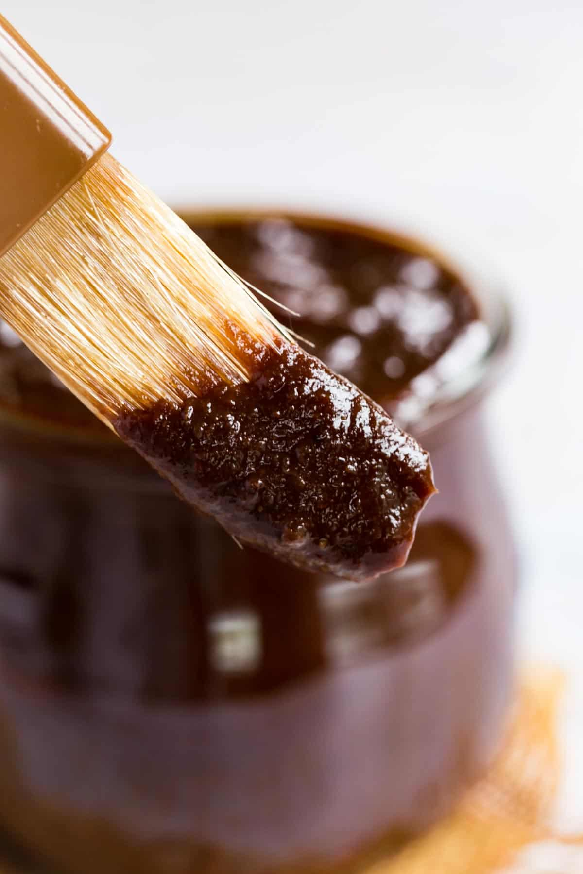 bbq sauce on a brush