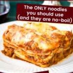 a thick slice of gluten free lasagna