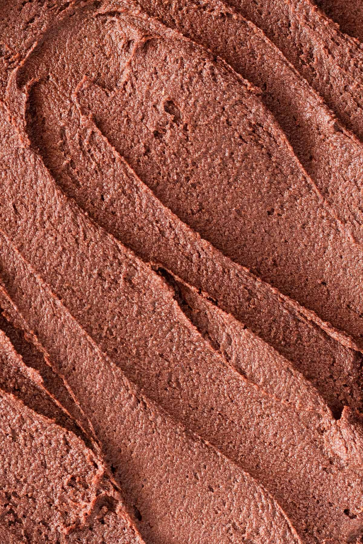 A Close-Up Shot of Homemade Chocolate Buttercream