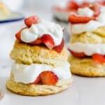 two gluten free strawberry shortcakes