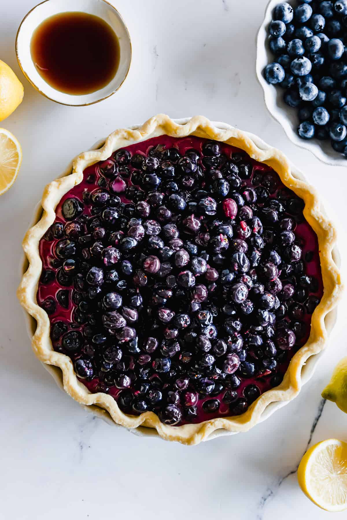 A Pre-Baked Gluten-Free Pie Crust Filled with Blueberry Filling
