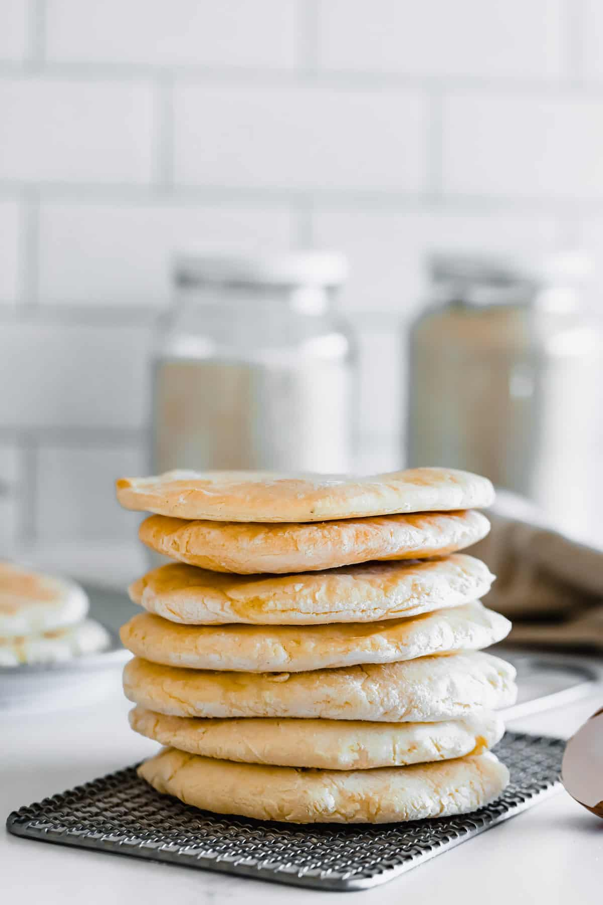 A Close-Up Shot of a Pile of Pieces of Gluten Free Pita Bread
