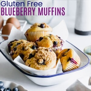 a bowl filled with blueberry muffins