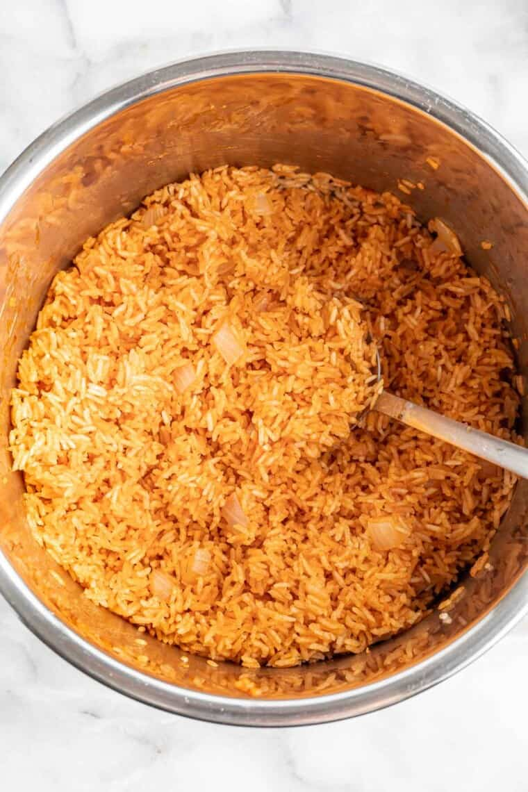 cooked mexican rice in the instant pot