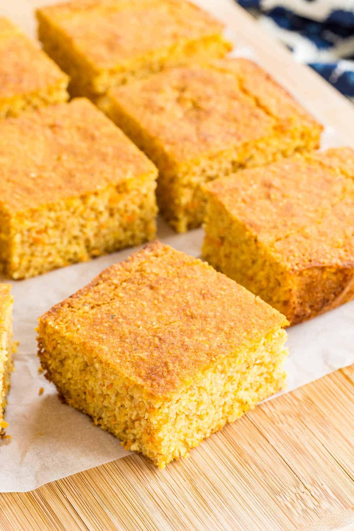 slices of gluten free cornbread
