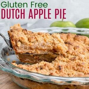 slice of apple crumb pie bring